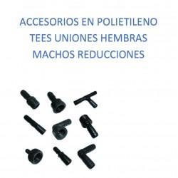 Accesorios Polietileno para Riego, Uniones TEE Reducciones, Acoples Machos y Hembras